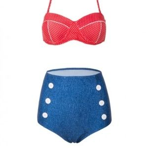 Other - High waisted retro-style bikini, new in packaging